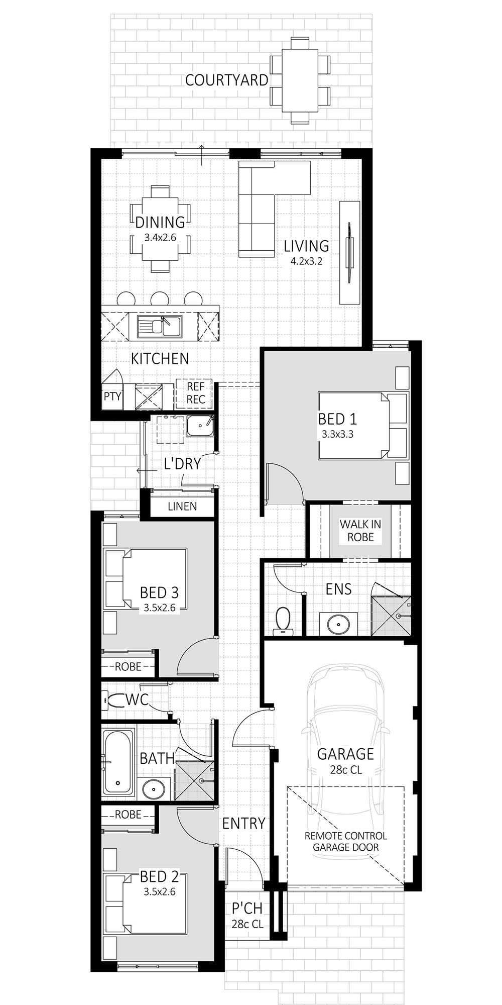 Orbit floorplan