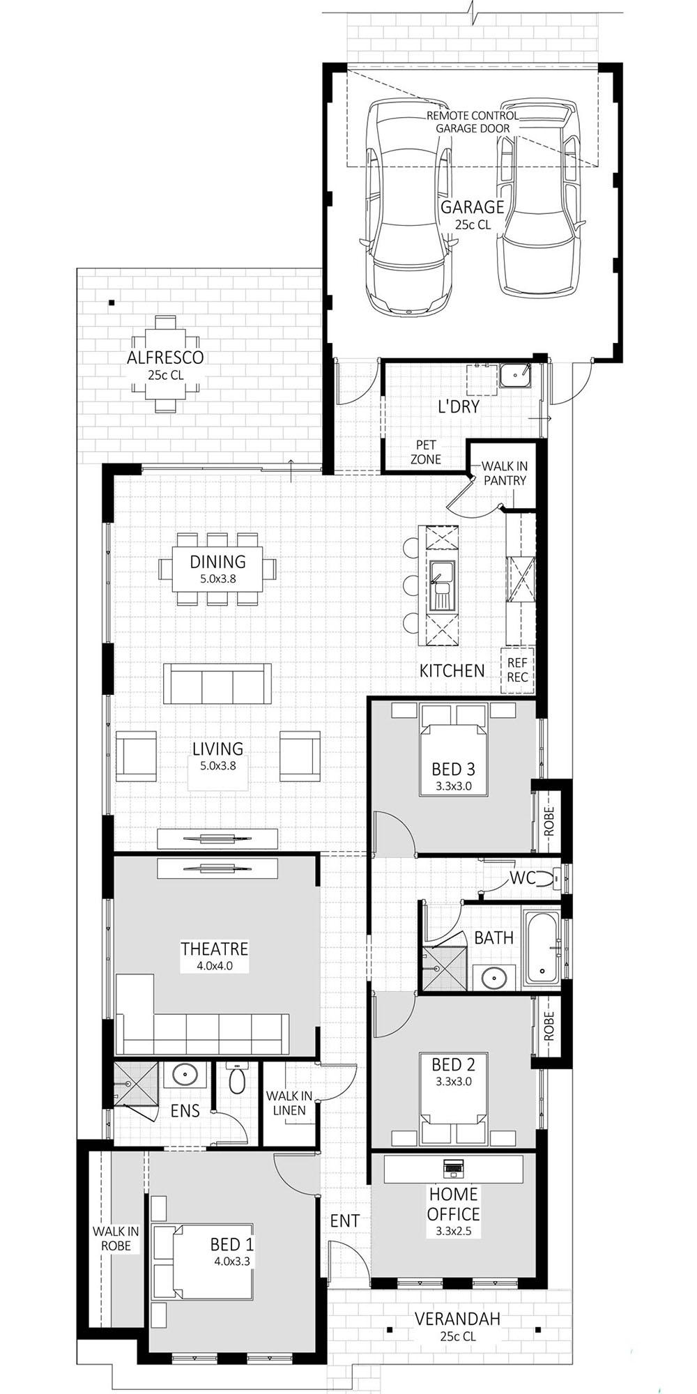 Sensation floorplan