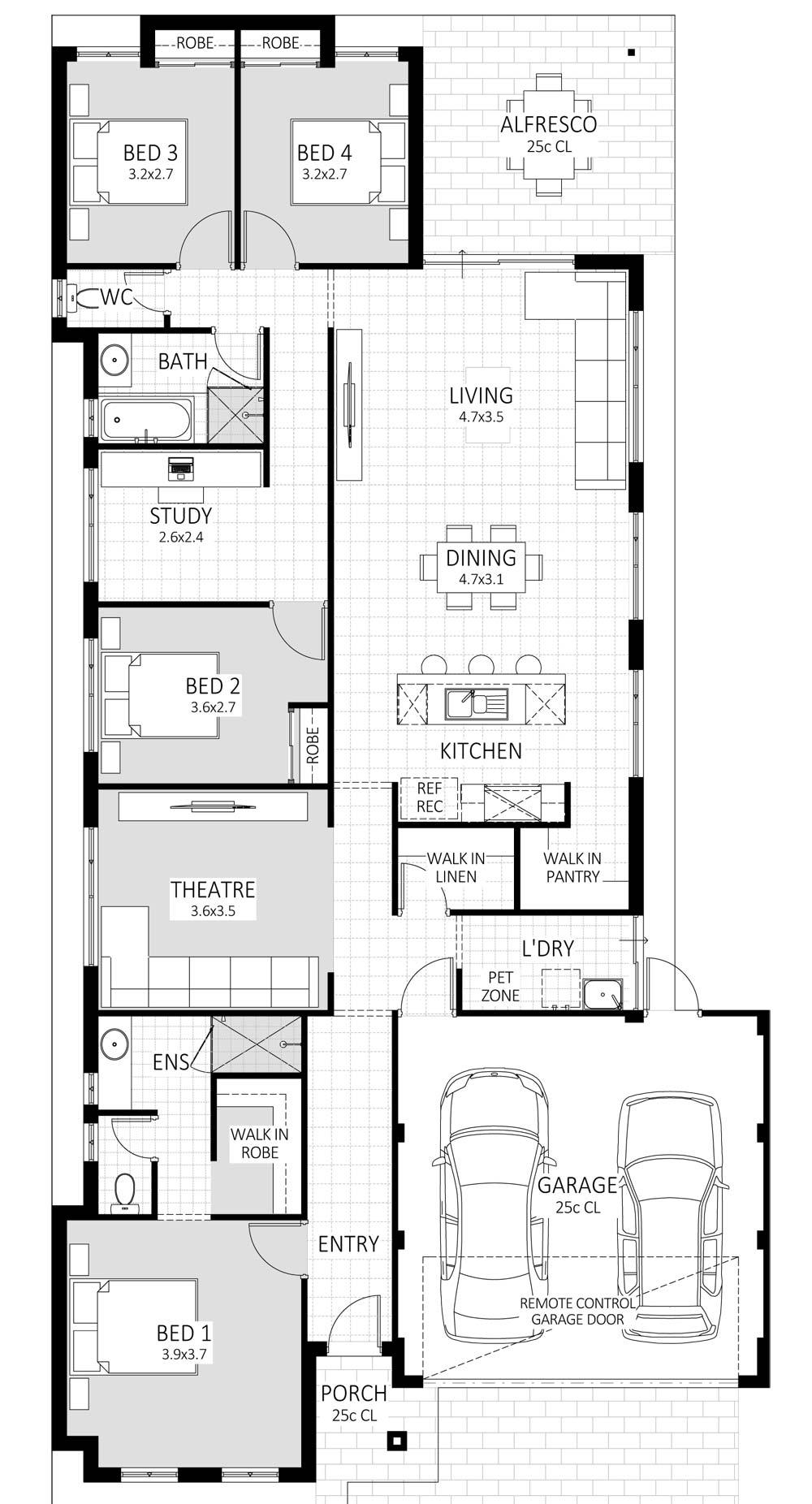 Spirit floorplan