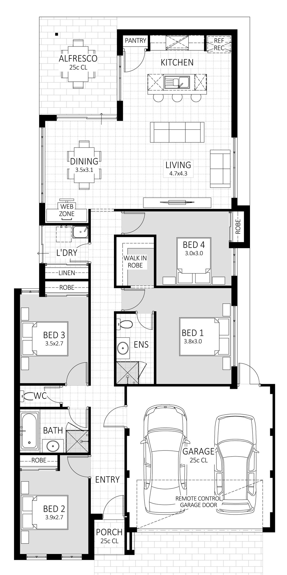 Vanguard floorplan